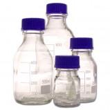 Банки для реактивов, 1000 мл, из светлого стекла, с делениями и навинчивающейся п/п крышкой, арт 10006803