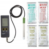 pH метр Hanna HI 991001 (-2– 16,00 рН/± 0,01 рН, с электродом HI 1296D, АТС, водонепроницаемый корпус)