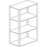 Навесной шкаф-стеллаж 1200 НС-М