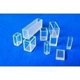 Кювета кварцевая (стекло кварцевое КВ) для фотоколориметров, флюориметров и спектрофотометров, L оптич. пути 10 мм, с уменьш. объемом