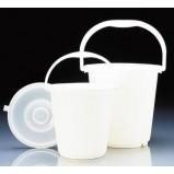 Ведро пластиковое PE-HD, 10 л, белое, градуированное (96393) (Vitlab)