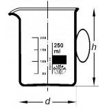 Стакан низкий, 1000 мл, с ручкой (Кат. № 154/ 632 417 091 940) Simax