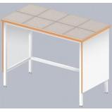 Стол лабораторный высокий ЛАБ-1200 ЛКв (Керам. плитка)