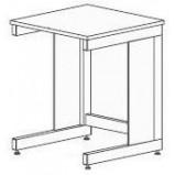 Стол-приставка мобильный разборно-металлический 600 СПМл-У (ламинат)