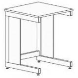 Стол-приставка разборно-металлический 600 СПк-У (керамика KS-12)