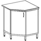 Угловой стол-тумба 600 УСТп (пластик)
