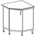 Угловой стол-тумба 1200 УСТп (пластик)