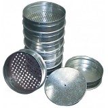Набор сит ЛО-251НС для цемента и минерального порошка, диам.200 мм. с поддоном и крышкой из нерж.стали. Р-ры ячеек: 0.071 - 1.25 мм.