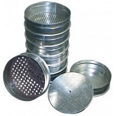 Набор сит КП-131 для грунта, диам.200 мм. с поддоном и крышкой из оцинк.стали. Р-ры ячеек: 0.1 - 10.0 мм.