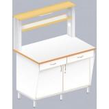 Стол пристенный физический с закрытой тумбой ЛАБ-1200 ПЛТ (Ламинат)