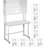 Стол лабораторный с шкафом-настройкой ЛК-1200 СН (Нерж. cталь, h=850)