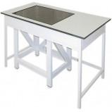 Стол весовой большой *стол в столе* 900 СВГ-1200п (пластик/гранит)