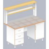 Стол пристенный физический ЛАБ-1500 ПК (Керам. плитка)