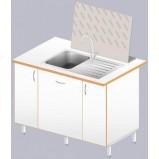 Стол-мойка ЛАБ-1200 МО (нерж. сталь/ламинат (глубина чаши 160мм)
