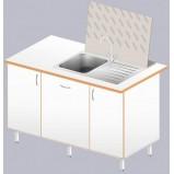 Стол-мойка ЛАБ-1400 МО (нерж. сталь /ламинат (глубина чаши 160мм)