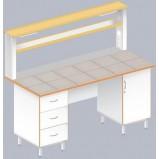 Стол пристенный физический ЛАБ-1800 ПК (Керам. плитка)