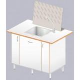Стол-мойка ЛАБ-1200 МОГ (полипропилен/ламинат (глубина чаши 300мм)