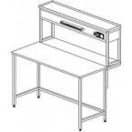 Стол пристенный физический без ящиков и розеток 1500 СПФп-М б/я.р. (пластик)