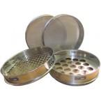 Сито лабораторное металлическоеС30/50 (перфорир. полотно, квадр. ячейка 22,4 мм, нерж. сталь)
