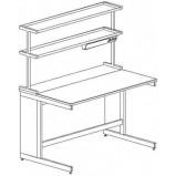 Стол пристенный физический 1500 СПФн-У (нерж.сталь с борт.)