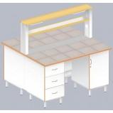 Стол островной физический ЛАБ-1500 ОК (Керам. плитка)