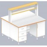 Стол островной физический ЛАБ-1500 ОЛ (Ламинат)