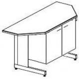 Стол-тумба трапециевидный к островному столу 1500 СТТп.трпц.-М (пластик Sloplast)