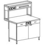 Стол-тумба пристенный физический c ящиками и розетками 1200 СТПФп-М с/я.р. (пластик)