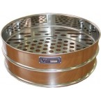 Сито лабораторное металлическоеС30/100 (перфорир. полотно, квадр. ячейка 18 мм, нерж. сталь)