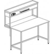 Стол пристенный физический без ящиков и розеток 1200 СПФдб-М б/я.р. (Durcon с борт.)