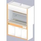 Шкаф вытяжной ЛАБ-1500 ШВ-Н (Керам. плитка)