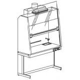 Шкаф вытяжной с наклонным экраном и вытяжкой 1200 ШВУнв (нерж.сталь)