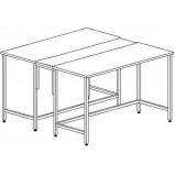 Стол островной на основе столов без ящиков и розеток 1200 СОд-М б/я.р. (Durcon)