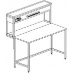 Стол пристенный физический без ящиков и розеток 1200 СПФкб-М б/я.р. (Монол. керамика с борт.)