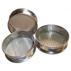 Сито лабораторное металлическоеС12/38 (перфорир. полотно 0,8 мм, нерж. сталь)