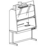 Шкаф вытяжной с наклонным экраном и вытяжкой 1500 ШВУw (Wilsonart)