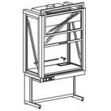 Шкаф вытяжной демонстрационный 1200 ШВДд (Durcon с бортиком)