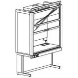 Шкаф вытяжной универсальный 1500 ШВМУд (Durcon с бортиком)