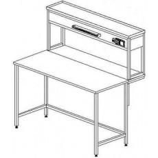 Стол пристенный физический без ящиков и розеток 1500 СПФдб-М б/я.р. (Durcon с борт.)