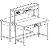 Стол островной физический на основе столов с ящиками и розетками 1200 СОФд-М (Durcon)