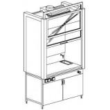 Шкаф вытяжной модульный 1200 ШВМнв (нерж.сталь с борт.)