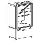 Шкаф вытяжной модульный 1200/900 ШВМдв (Durcon с бортиком)