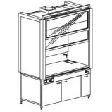 Шкаф вытяжной модульный 1500/900 ШВМд (Durcon с бортиком)