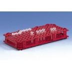 Штатив для 84 микроцентрифужных пробирок, диам. до 13 мм, красная, пластиковая PP (3198943) (Vitlab) 5 шт./уп.