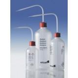 Промывалка узкогорлая, GL 25, дистил. вода, 250 мл, безопасная, пластиковая PE-LD, VENT-CAP с винтовой крышкой PP (1331819) (Vitlab) 12 шт./уп.