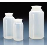 Бутылка широкогорлая, 100 мл, пластиковая PE-LD, с герметично закрывающейся крышкой (80409) (Vitlab) 25 шт./уп.