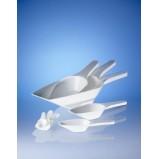 Совок мерный, L=200 мм, 100 мл, пластиковый PP, белый (39694) (Vitlab) 12 шт./уп.