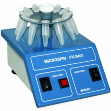 Центрифуга–вортекс Biosan Микроспин FV-2400 (2800 об/мин, без крышки, c двумя роторами, синий корпус, 12/24 места) (Кат № BS-010201-ABA)